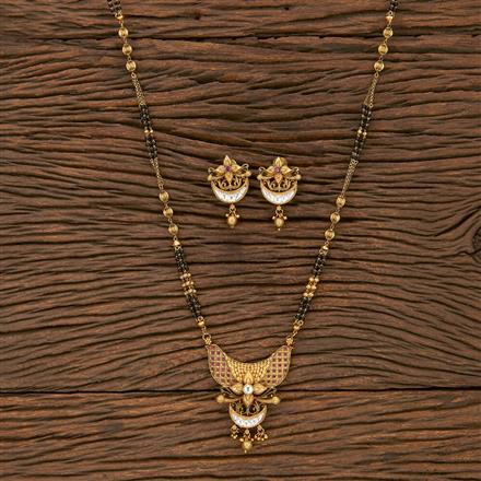 207157 Antique Classic Mangalsutra With Gold Plating
