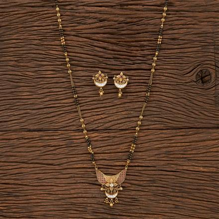 207158 Antique Classic Mangalsutra With Gold Plating