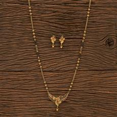 207159 Antique Classic Mangalsutra With Gold Plating