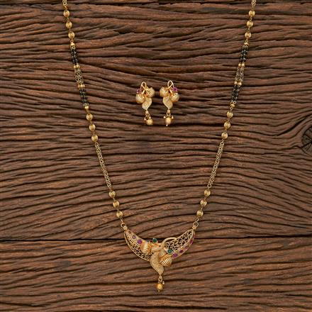 207160 Antique Classic Mangalsutra With Gold Plating