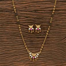 207161 Antique Classic Mangalsutra With Gold Plating