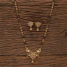 207162 Antique Classic Mangalsutra With Gold Plating