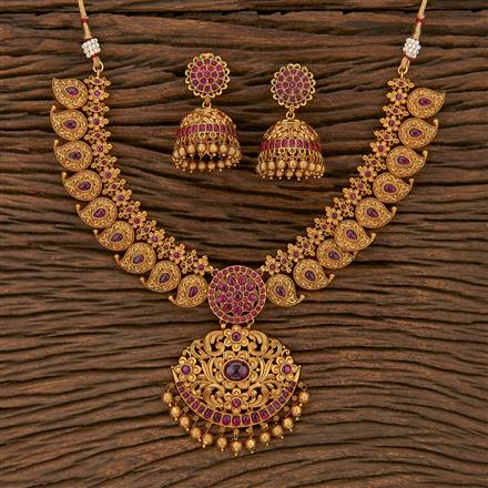 207169 Antique Classic Necklace With Matte Gold Plating