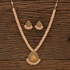 207171 Antique Mala Pendant Set With Gold Plating