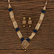207172 Antique Mala Pendant Set With Gold Plating
