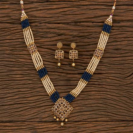 207172 Antique Mala Pendant Set With Gold Plating