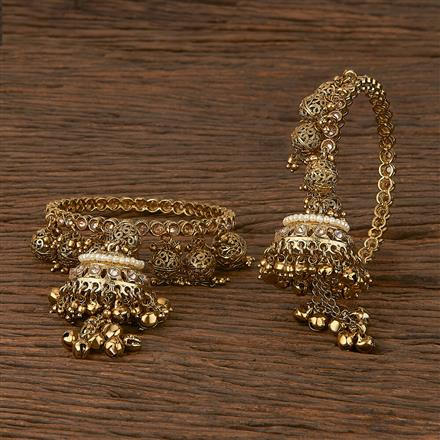 207239 Antique Classic Bangles With Mehndi Plating