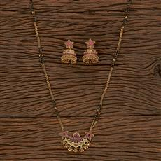 207260 Antique Classic Mangalsutra With Gold Plating