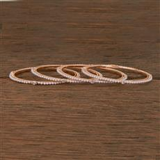 207263 Antique Delicate Bangles With Rose Gold Plating