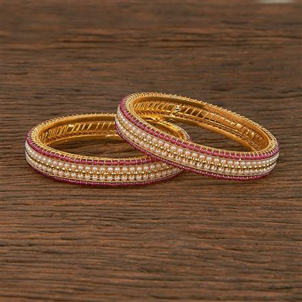 207264 Antique Delicate Bangles With Gold Plating