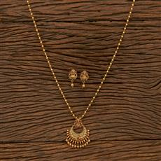 207284 Antique Temple Pendant Set With Matte Gold Plating