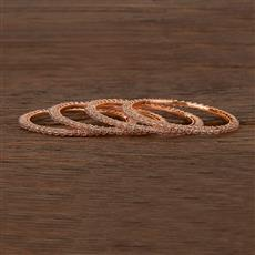 207342 Antique Delicate Bangles With Rose Gold Plating