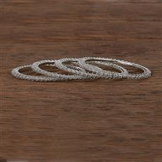 207343 Antique Delicate Bangles With Rhodium Plating
