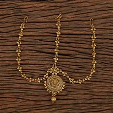 207344 Antique Plain Damini With Gold Plating