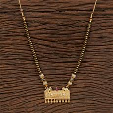 207370 Antique Classic Mangalsutra With Gold Plating