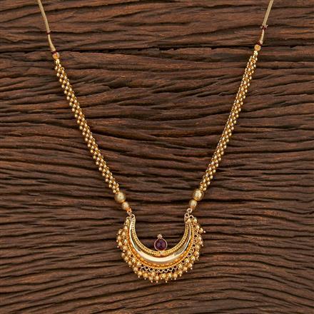 207375 Antique Mala Pendant Set With Gold Plating