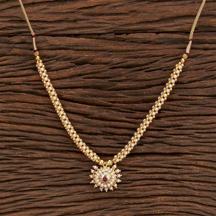 207376 Antique Mala Pendant Set With Gold Plating
