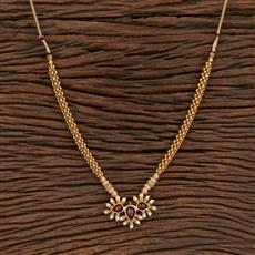 207377 Antique Peacock Pendant Set With Gold Plating