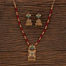207433 Antique Classic Pendant Set With Gold Plating