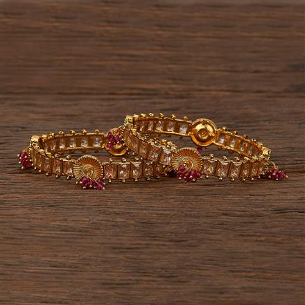 207456 Antique Delicate Bangles With Gold Plating