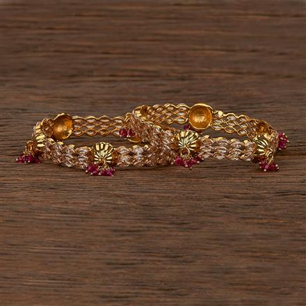 207457 Antique Delicate Bangles With Gold Plating