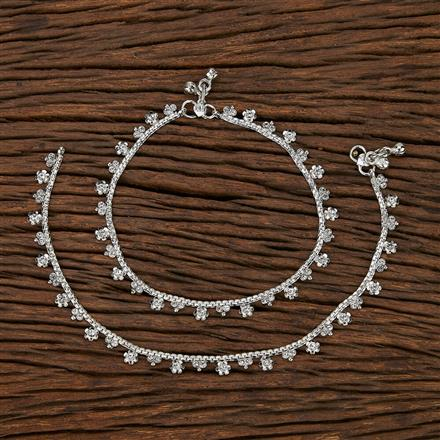 207467 Antique Delicate Payal With Rhodium Plating