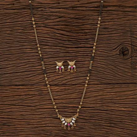207472 Antique Classic Mangalsutra With Gold Plating