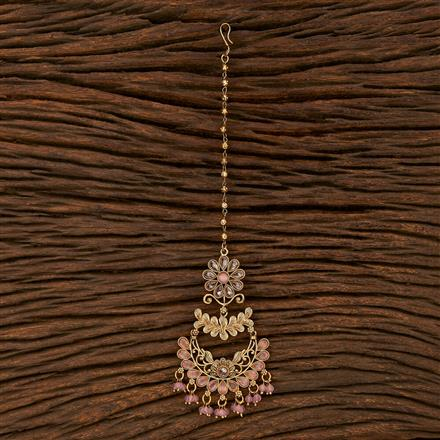 207499 Antique Chand Tikka With Gold Plating