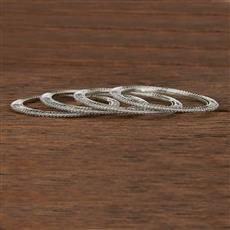 207500 Antique Delicate Bangles With Rhodium Plating
