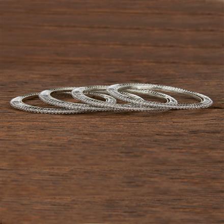 207500 Antique Delicate Bangles With Rhodium Plating