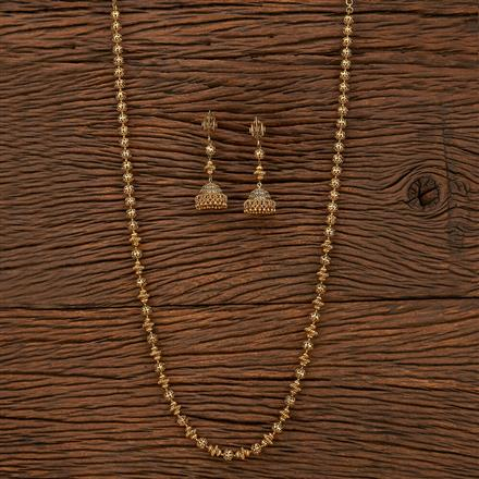 207527 Antique Mala Necklace With Gold Plating
