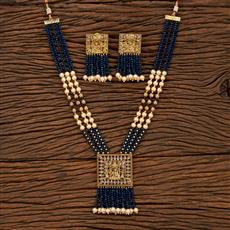 207533 Antique Mala Pendant Set With Gold Plating