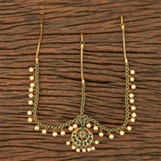 207547 Antique South Indian Damini With Matte Gold Plating