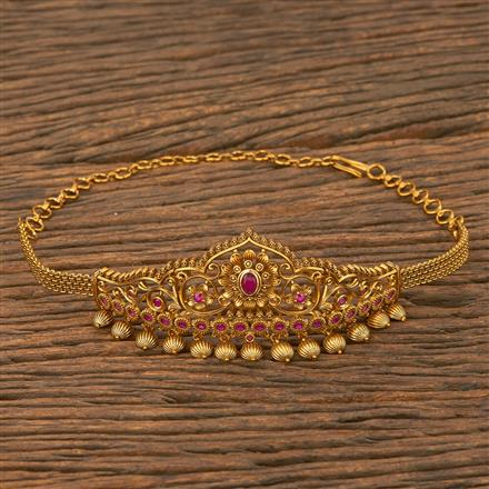 207548 Antique Classic Baju Band With Matte Gold Plating
