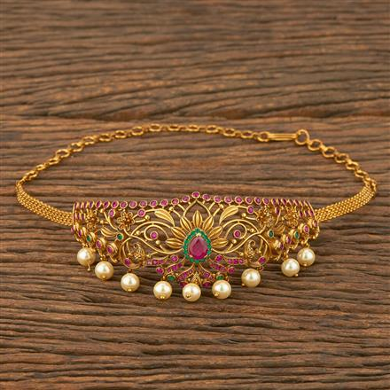 207551 Antique Classic Baju Band With Matte Gold Plating