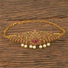 207552 Antique Classic Baju Band With Matte Gold Plating