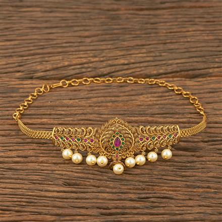 207553 Antique Classic Baju Band With Matte Gold Plating