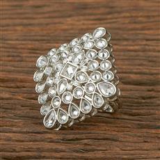 207561 Antique Classic Ring With Rhodium Plating