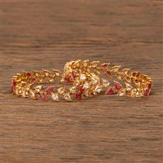 207626 Antique Delicate Bangles With Gold Plating