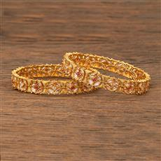 207627 Antique Delicate Bangles With Gold Plating