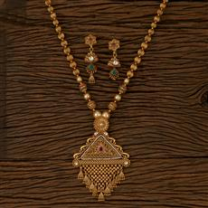 207634 Antique Classic Pendant set with Gold Plating