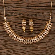 207641 Antique Classic Necklace With Gold Plating