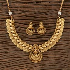 207646 Antique Temple Necklace With Gold Plating