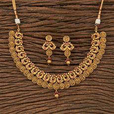 207648 Antique Peacock Necklace With Gold Plating