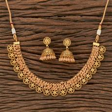 207653 Antique Classic Necklace With Gold Plating