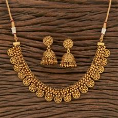 207654 Antique Delicate Necklace With Gold Plating