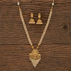 207655 Antique Long Necklace With Gold Plating