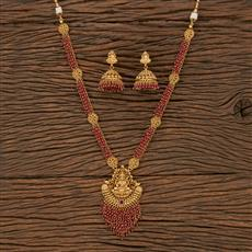 207656 Antique Long Necklace With Gold Plating