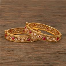 207657 Antique Openable Bangles With Gold Plating