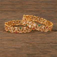 207658 Antique Openable Bangles With Gold Plating